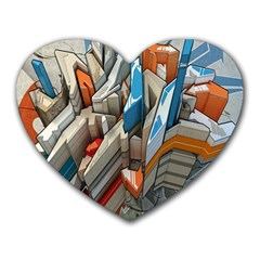Abstraction Imagination City District Building Graffiti Heart Mousepads