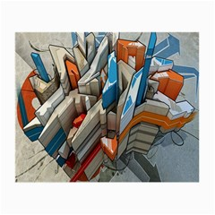 Abstraction Imagination City District Building Graffiti Small Glasses Cloth (2 Side)