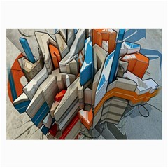 Abstraction Imagination City District Building Graffiti Large Glasses Cloth (2-Side)