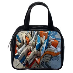 Abstraction Imagination City District Building Graffiti Classic Handbags (one Side)