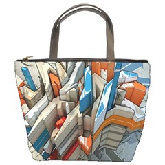 Abstraction Imagination City District Building Graffiti Bucket Bags
