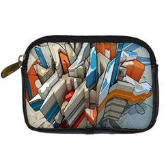 Abstraction Imagination City District Building Graffiti Digital Camera Cases