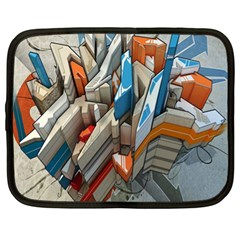 Abstraction Imagination City District Building Graffiti Netbook Case (xl)