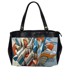 Abstraction Imagination City District Building Graffiti Office Handbags (2 Sides)