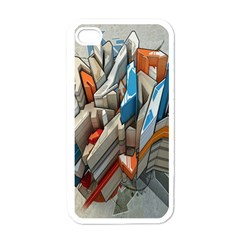 Abstraction Imagination City District Building Graffiti Apple iPhone 4 Case (White)