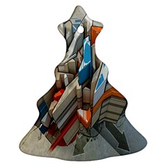 Abstraction Imagination City District Building Graffiti Ornament (christmas Tree)