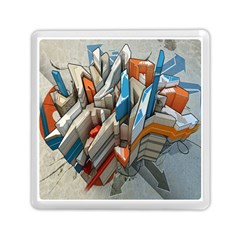 Abstraction Imagination City District Building Graffiti Memory Card Reader (square)