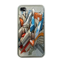 Abstraction Imagination City District Building Graffiti Apple iPhone 4 Case (Clear)