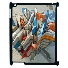 Abstraction Imagination City District Building Graffiti Apple Ipad 2 Case (black)