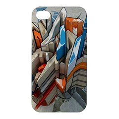 Abstraction Imagination City District Building Graffiti Apple Iphone 4/4s Hardshell Case