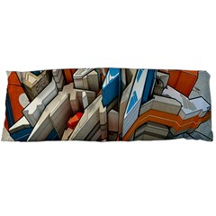 Abstraction Imagination City District Building Graffiti Body Pillow Case Dakimakura (Two Sides)