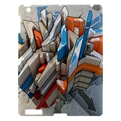 Abstraction Imagination City District Building Graffiti Apple iPad 3/4 Hardshell Case