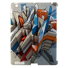 Abstraction Imagination City District Building Graffiti Apple Ipad 3/4 Hardshell Case (compatible With Smart Cover)