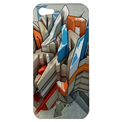 Abstraction Imagination City District Building Graffiti Apple iPhone 5 Hardshell Case