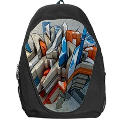 Abstraction Imagination City District Building Graffiti Backpack Bag
