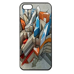 Abstraction Imagination City District Building Graffiti Apple iPhone 5 Seamless Case (Black)