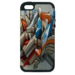 Abstraction Imagination City District Building Graffiti Apple iPhone 5 Hardshell Case (PC+Silicone)