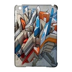 Abstraction Imagination City District Building Graffiti Apple iPad Mini Hardshell Case (Compatible with Smart Cover)