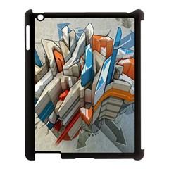 Abstraction Imagination City District Building Graffiti Apple iPad 3/4 Case (Black)