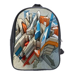 Abstraction Imagination City District Building Graffiti School Bags (xl)