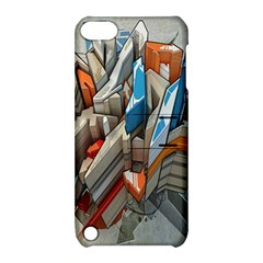 Abstraction Imagination City District Building Graffiti Apple iPod Touch 5 Hardshell Case with Stand