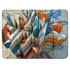 Abstraction Imagination City District Building Graffiti Samsung Galaxy Tab 7  P1000 Flip Case