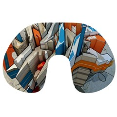 Abstraction Imagination City District Building Graffiti Travel Neck Pillows