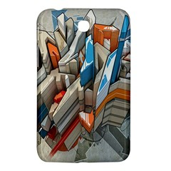 Abstraction Imagination City District Building Graffiti Samsung Galaxy Tab 3 (7 ) P3200 Hardshell Case