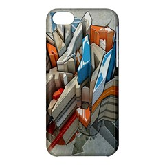 Abstraction Imagination City District Building Graffiti Apple iPhone 5C Hardshell Case