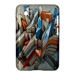 Abstraction Imagination City District Building Graffiti Samsung Galaxy Tab 2 (7 ) P3100 Hardshell Case