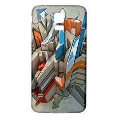 Abstraction Imagination City District Building Graffiti Samsung Galaxy S5 Back Case (White)