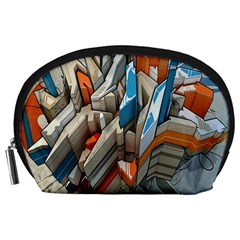 Abstraction Imagination City District Building Graffiti Accessory Pouches (Large)