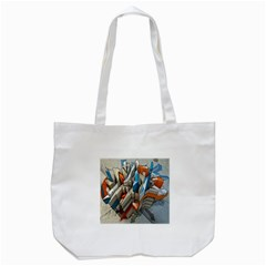 Abstraction Imagination City District Building Graffiti Tote Bag (White)