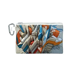 Abstraction Imagination City District Building Graffiti Canvas Cosmetic Bag (S)