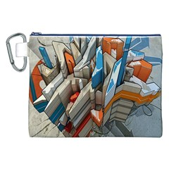 Abstraction Imagination City District Building Graffiti Canvas Cosmetic Bag (XXL)