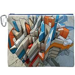 Abstraction Imagination City District Building Graffiti Canvas Cosmetic Bag (XXXL)