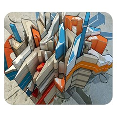Abstraction Imagination City District Building Graffiti Double Sided Flano Blanket (Small)