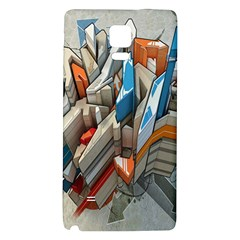 Abstraction Imagination City District Building Graffiti Galaxy Note 4 Back Case