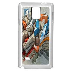 Abstraction Imagination City District Building Graffiti Samsung Galaxy Note 4 Case (white)