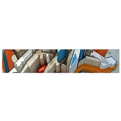Abstraction Imagination City District Building Graffiti Flano Scarf (small)