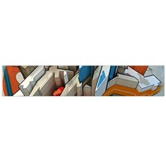 Abstraction Imagination City District Building Graffiti Flano Scarf (large)