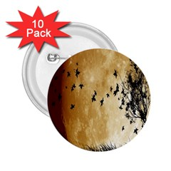 Birds Sky Planet Moon Shadow 2 25  Buttons (10 Pack)
