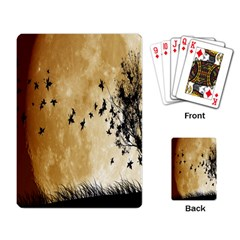 Birds Sky Planet Moon Shadow Playing Card