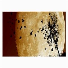 Birds Sky Planet Moon Shadow Large Glasses Cloth (2-Side)