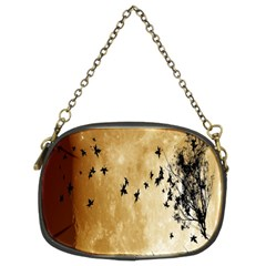 Birds Sky Planet Moon Shadow Chain Purses (two Sides)