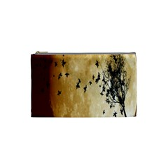 Birds Sky Planet Moon Shadow Cosmetic Bag (small)