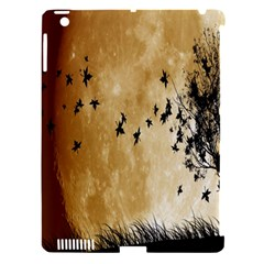 Birds Sky Planet Moon Shadow Apple iPad 3/4 Hardshell Case (Compatible with Smart Cover)