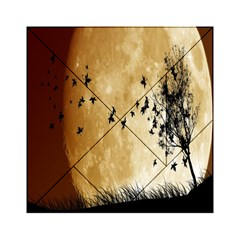 Birds Sky Planet Moon Shadow Acrylic Tangram Puzzle (6  x 6 )