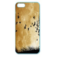 Birds Sky Planet Moon Shadow Apple Seamless Iphone 5 Case (color)