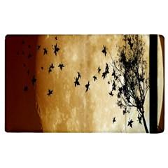 Birds Sky Planet Moon Shadow Apple iPad 2 Flip Case